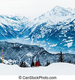alpes suisses, hiver