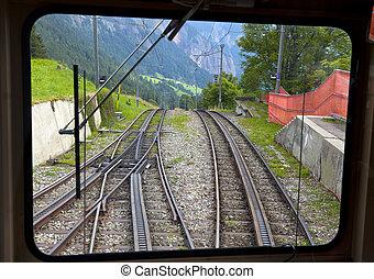 alpes suisses, train