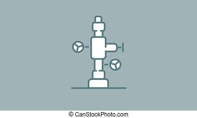 alpha, accessoires, fontaine, puits, huile, icône, ligne, canal