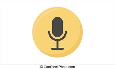 alpha, channel., microphone, mouvement, graphique, animation, icône, ligne