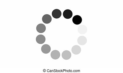 alpha, chargement, animation, channel., cercle, icône, fond blanc