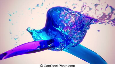 alpha, eau, cha, coloré, irrigation