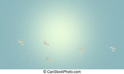 alpha, mat, voler, oiseaux, boucle