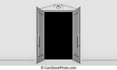 alpha, porte, salle, canal, ouverture