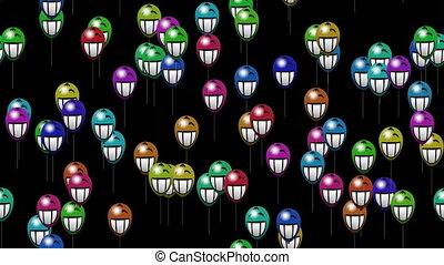 alpha, sourire, ballons, sourire