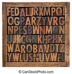 alphabet, aléatoire, lettres