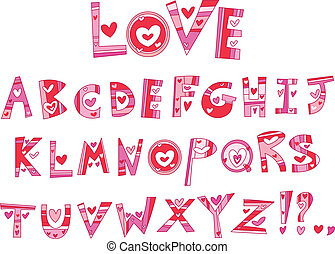 alphabet, amour