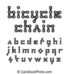 alphabet, chaîne bicyclette