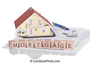 alphabet, concept, hypothèque