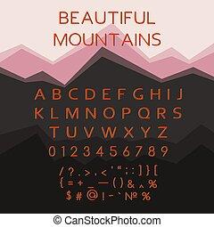 alphabet latin, oeil caractère, lettres, multicolore, vecteur, font.