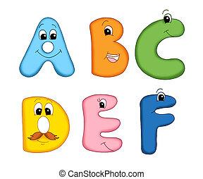 alphabet, lettres