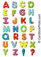 alphabet, petit gâteau