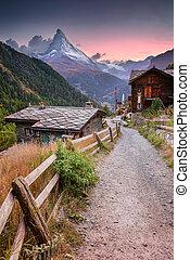 alps., suisse, matterhorn