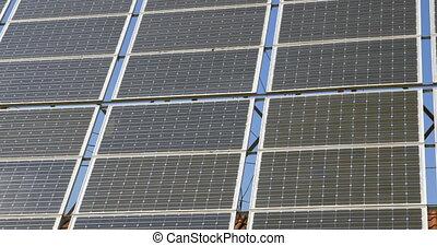alternative, gros plan, panneaux, énergie, solaire