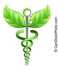 alternative, symbole, médecine