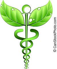 alternative, vecteur, symbole, médecine