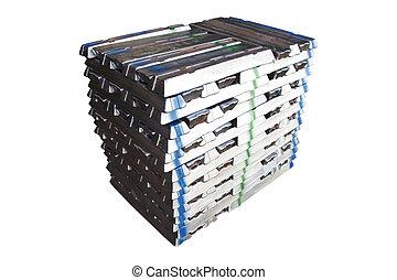 aluminium, pile, lingots