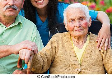alzheimer, dame, maladie, personnes agées