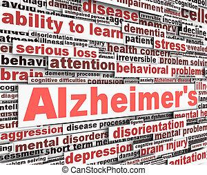 alzheimer, message, conception, maladie