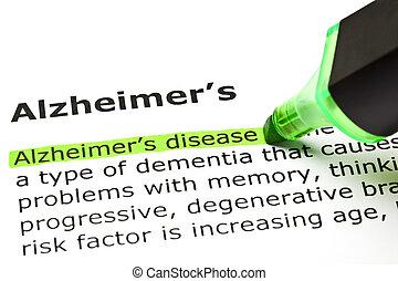 'alzheimer's', 'alzheimer's, disease', sous
