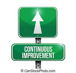 amélioration, continu, conception, illustration, signe