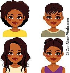 américain africain, coiffure