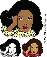 américain, africaine, modèle