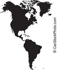 américain, continent