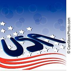 américain, drapeau etats-unis, fond