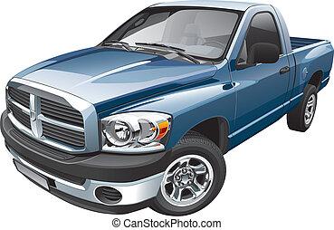 américain, full-size, pick-up