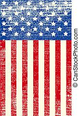 américain, grunge, drapeau
