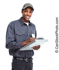 américain, ouvrier, man., africaine