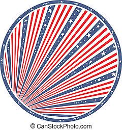 américain, résumé, drapeau