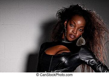 américain, sensuelles, africaine