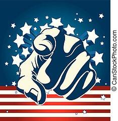 américain, starburst, index