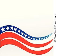 américain, vecteur, conception, drapeau