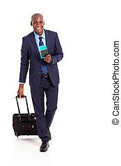 américain, voyageur, business, africaine