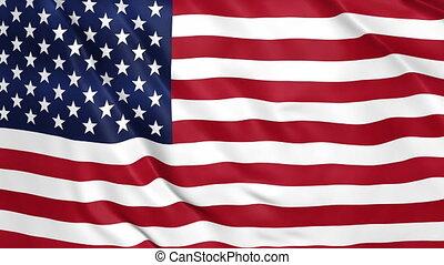 amérique, etats, onduler drapeau, uni