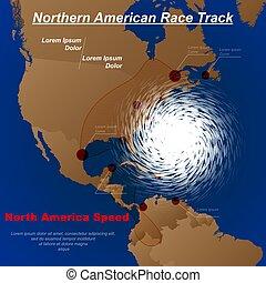 amérique, ouragan, nord