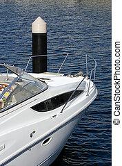 amarré, luxe, bateau
