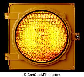 ambre, lumière, trafic, éclairé