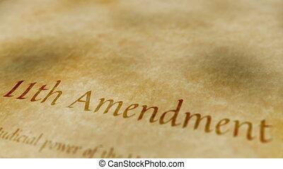 amendement, 11ème, historique, document