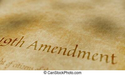 amendement, 19ème, historique, document