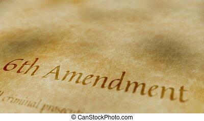amendement, 6ème, historique, document
