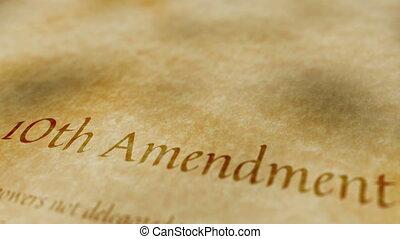 amendement, historique, 10ème, document