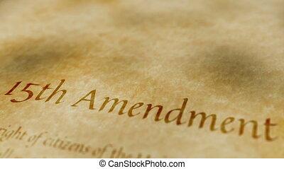 amendement, historique, document, 15e