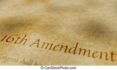 amendement, historique, document, 16ème