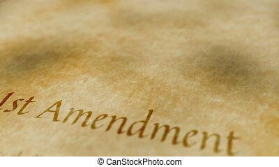 amendement, historique, document, 1er