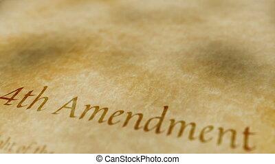 amendement, historique, document, 4ème