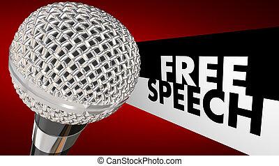 amendement, microphone, droit, liberté, discours libre, mots, expression, premier